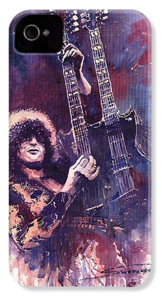 Jimmy Page  IPhone 4 Case by Yuriy  Shevchuk