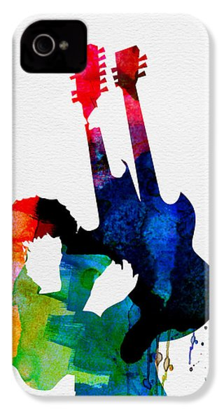 Jimmy Watercolor IPhone 4 / 4s Case by Naxart Studio