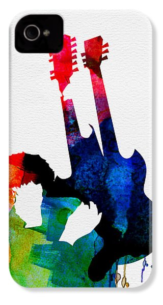 Jimmy Watercolor IPhone 4 Case by Naxart Studio