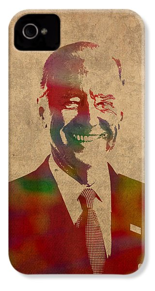 Joe Biden Watercolor Portrait IPhone 4 Case by Design Turnpike