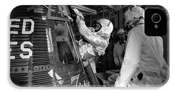 John Glenn Entering Friendship 7 Spacecraft IPhone 4 Case by War Is Hell Store