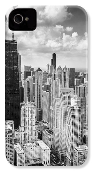 John Hancock Building In The Gold Coast Black And White IPhone 4 / 4s Case by Adam Romanowicz