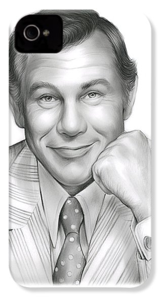 Johnny Carson IPhone 4 Case by Greg Joens