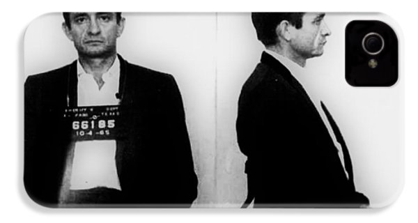 Johnny Cash Mug Shot Horizontal IPhone 4 Case
