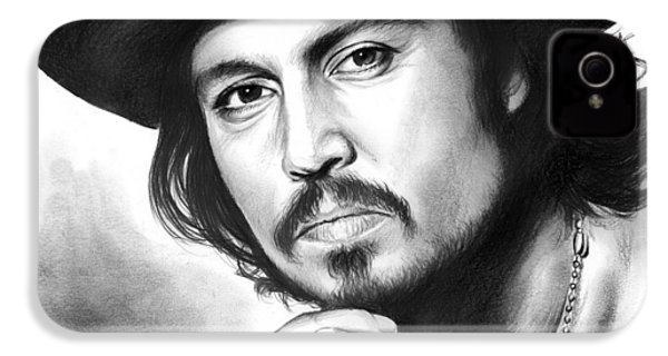 Johnny Depp IPhone 4 Case by Greg Joens