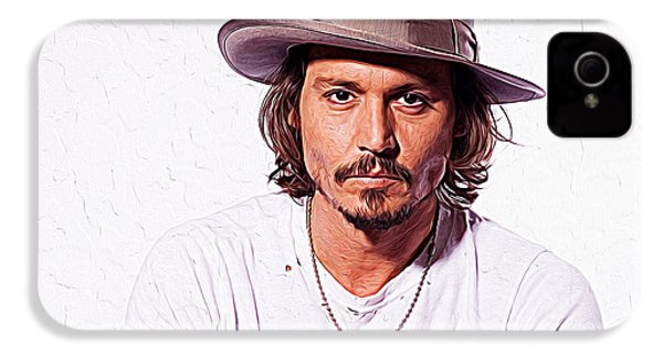 Johnny Depp IPhone 4 / 4s Case by Iguanna Espinosa