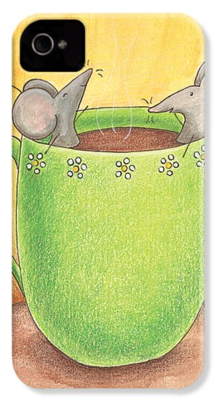 Join Me In A Cup Of Coffee IPhone 4 / 4s Case by Christy Beckwith