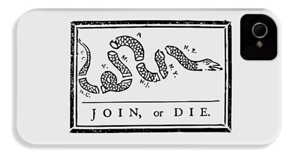 Join Or Die IPhone 4 Case by War Is Hell Store