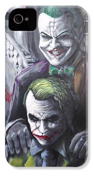 Jokery In Wayne Manor IPhone 4 Case by Tyler Haddox