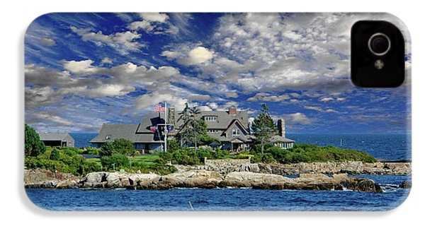 Kennebunkport, Maine - Walker's Point IPhone 4 Case by Russ Harris