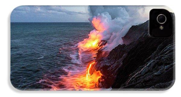 Kilauea Volcano Lava Flow Sea Entry 3- The Big Island Hawaii IPhone 4 Case