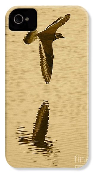 Killdeer Over The Pond IPhone 4 Case by Carol Groenen