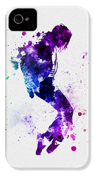 King Of Pop IPhone 4 Case by Rebecca Jenkins