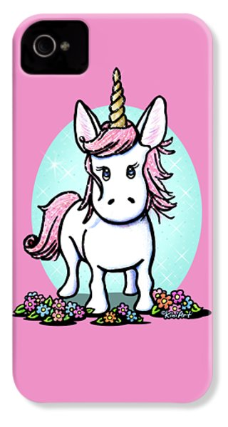 Kiniart Unicorn Sparkle IPhone 4 Case