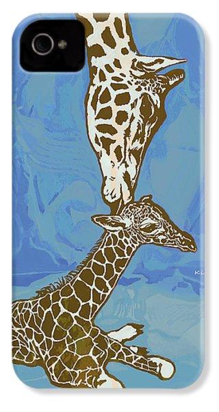 Kissing - Giraffe Stylised Pop Art Poster IPhone 4 Case