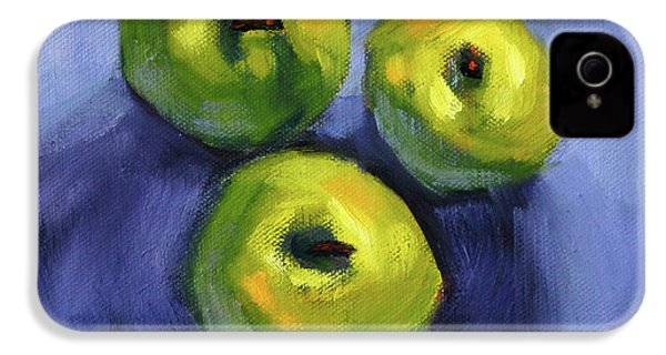 IPhone 4 Case featuring the painting Kitchen Pears Still Life by Nancy Merkle
