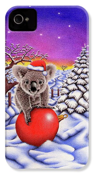 Koala On Christmas Ball IPhone 4 Case by Remrov