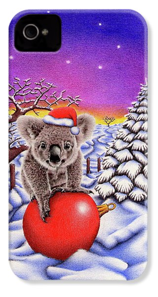 Koala On Christmas Ball IPhone 4 Case by Remrov
