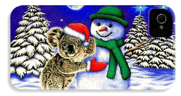 Koala With Snowman IPhone 4 Case by Remrov