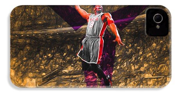 Kobe Bryant Black Mamba Digital Painting IPhone 4 Case by David Haskett