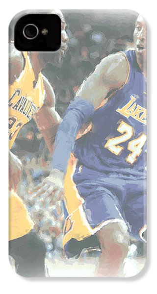 Kobe Bryant Lebron James 2 IPhone 4 / 4s Case by Joe Hamilton
