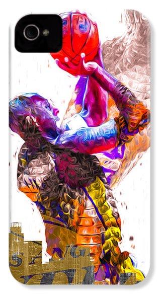 Kobe Bryant Los Angeles Lakers Digital Painting Snake 1 IPhone 4 Case by David Haskett