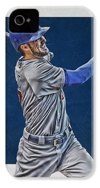 Kris Bryant Chicago Cubs Art 3 IPhone 4 / 4s Case by Joe Hamilton