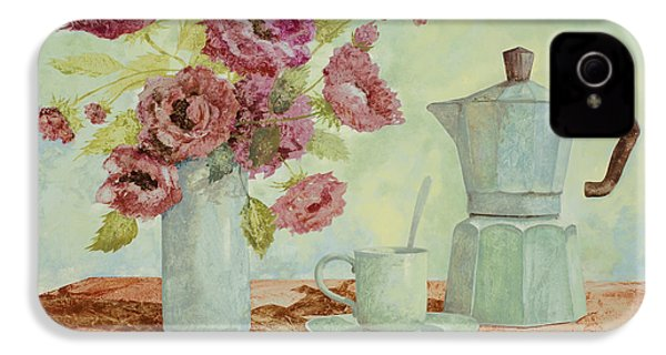 La Caffettiera E I Fiori Amaranto IPhone 4 Case by Guido Borelli