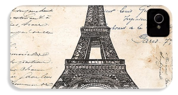 La Tour Eiffel IPhone 4 Case by Debbie DeWitt