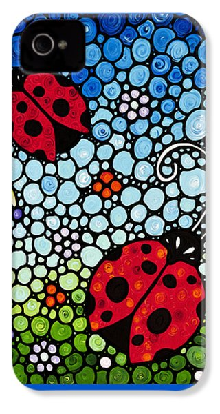 Ladybug Art - Joyous Ladies 2 - Sharon Cummings IPhone 4 Case
