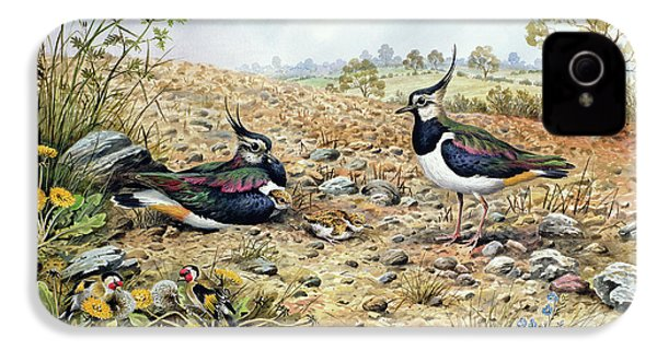 Lapwing Family With Goldfinches IPhone 4 Case by Carl Donner