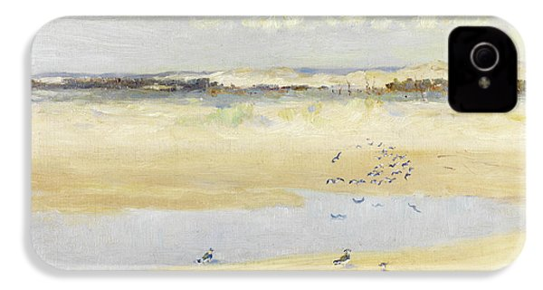 Lapwings By The Sea IPhone 4 Case by William James Laidlay