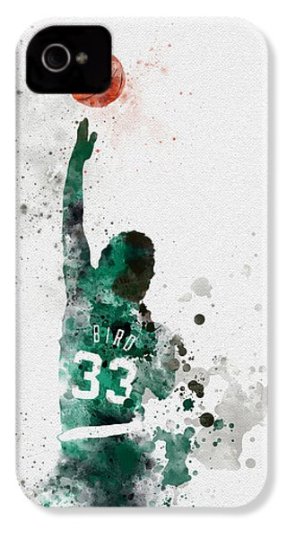 Larry Bird IPhone 4 Case by Rebecca Jenkins