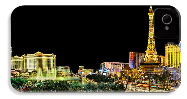Las Vegas At Night IPhone 4 Case by Az Jackson