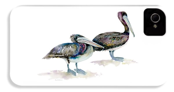 Laurel And Hardy, Brown Pelicans IPhone 4 Case by Amy Kirkpatrick
