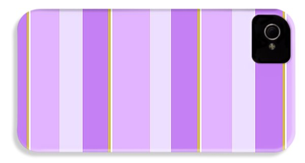 IPhone 4 Case featuring the mixed media Lavender Stripe Pattern by Christina Rollo