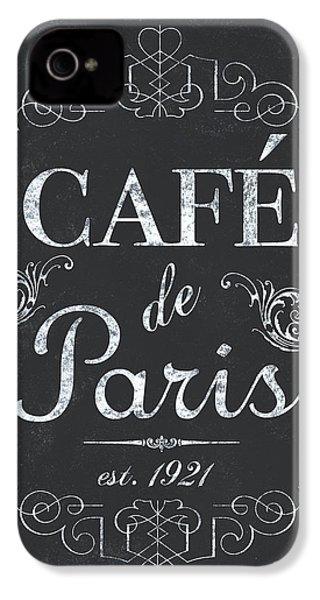 Le Petite Bistro 3 IPhone 4 Case by Debbie DeWitt