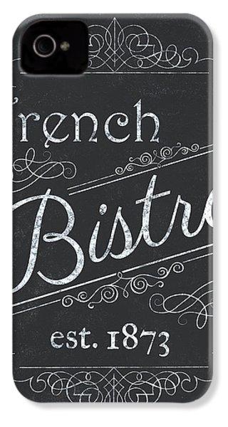 Le Petite Bistro 4 IPhone 4 Case by Debbie DeWitt