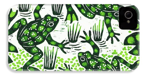 Leaping Frogs IPhone 4 Case by Nat Morley