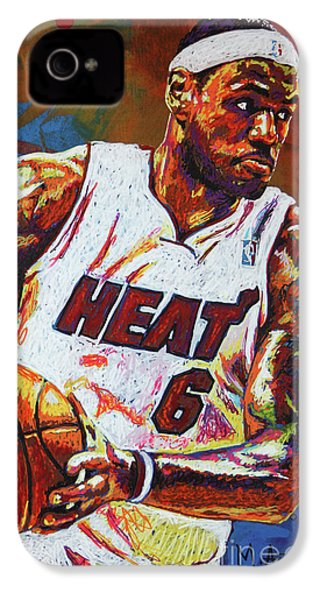 Lebron James 3 IPhone 4 Case by Maria Arango