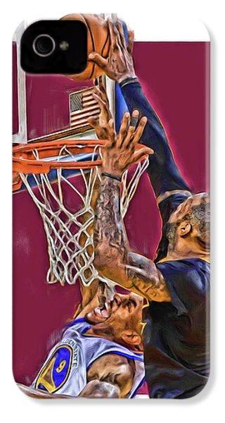Lebron James Cleveland Cavaliers Oil Art IPhone 4 Case