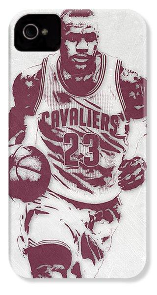 Lebron James Cleveland Cavaliers Pixel Art 4 IPhone 4 Case