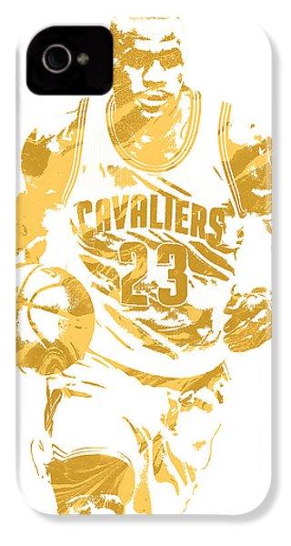 Lebron James Cleveland Cavaliers Pixel Art 7 IPhone 4 Case