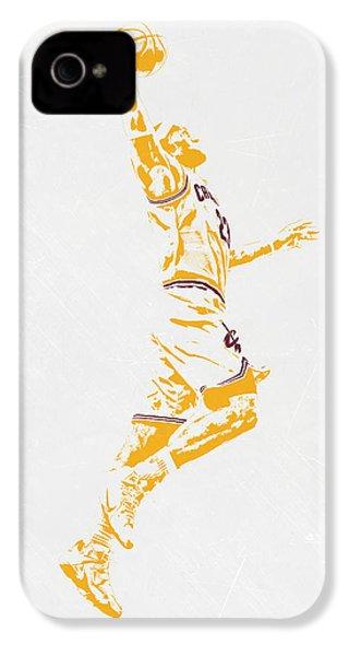 Lebron James Cleveland Cavaliers Pixel Art IPhone 4 / 4s Case by Joe Hamilton