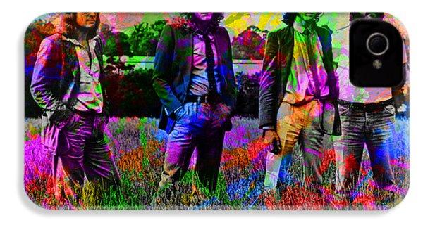 Led Zeppelin Band Portrait Paint Splatters Pop Art IPhone 4 Case by Design Turnpike
