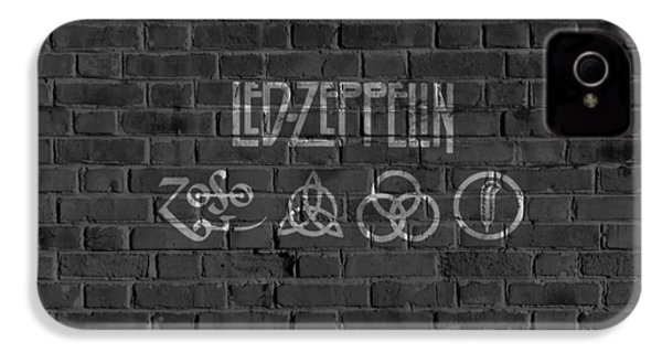 Led Zeppelin Brick Wall IPhone 4 Case by Dan Sproul