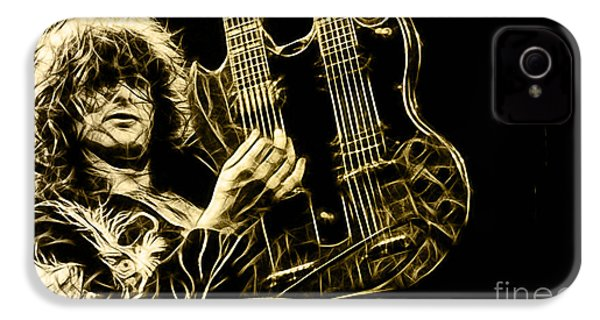 Led Zeppelin Jimmy Page IPhone 4 Case by Marvin Blaine