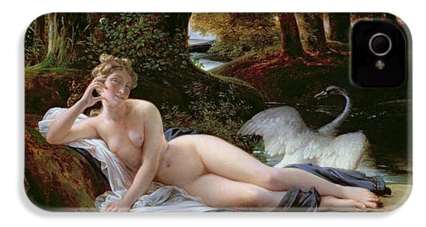 Leda And The Swan IPhone 4 Case by Francois Edouard Picot