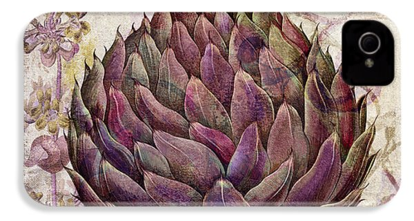 Legumes Francais Artichoke IPhone 4 / 4s Case by Mindy Sommers
