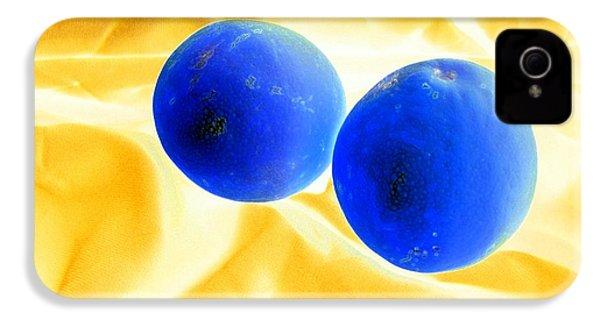 Lemon Blue IPhone 4 / 4s Case by Florene Welebny